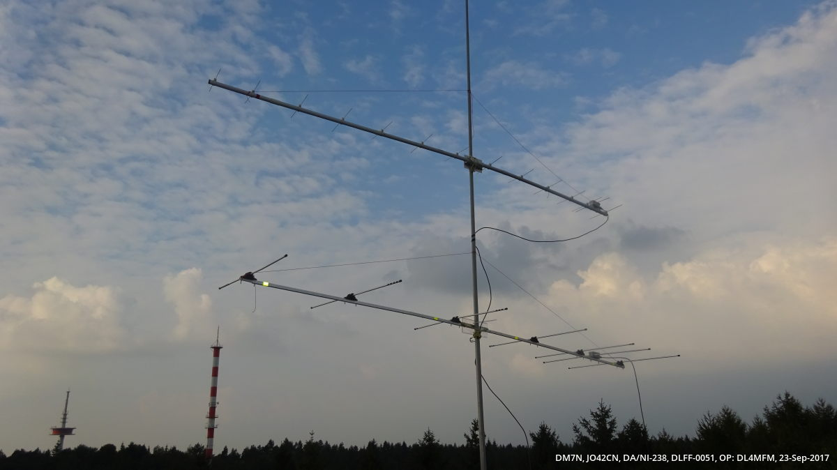 14 ele 432 MHz, 7 ele 144 MHz DK7ZB