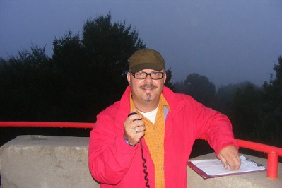 Mario, DC7CCC, auf der Aussichtsplattform