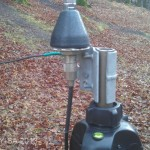 Antennenfuß für die MP-1 am Stativ mit Radial-Befestigung (DJ3AX)