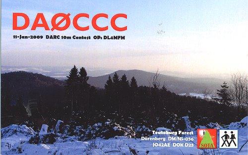 2009 DA0CCC auf dem Dörenberg