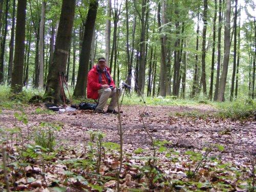 Funkbetrieb tief im Wald.