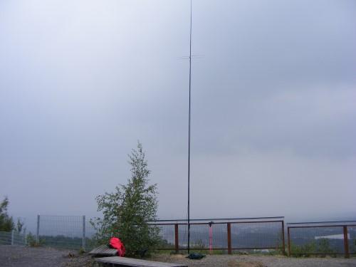 Blick Richtung Süden. Regen zieht hinter der HB9CV auf