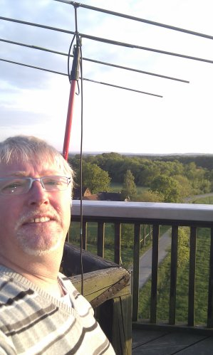 Klaus, DO1KLI, operated DA7A from the Venner Berg Outlook Tower