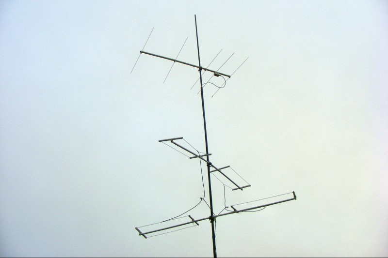 Antenna Mast on the Tower Platform