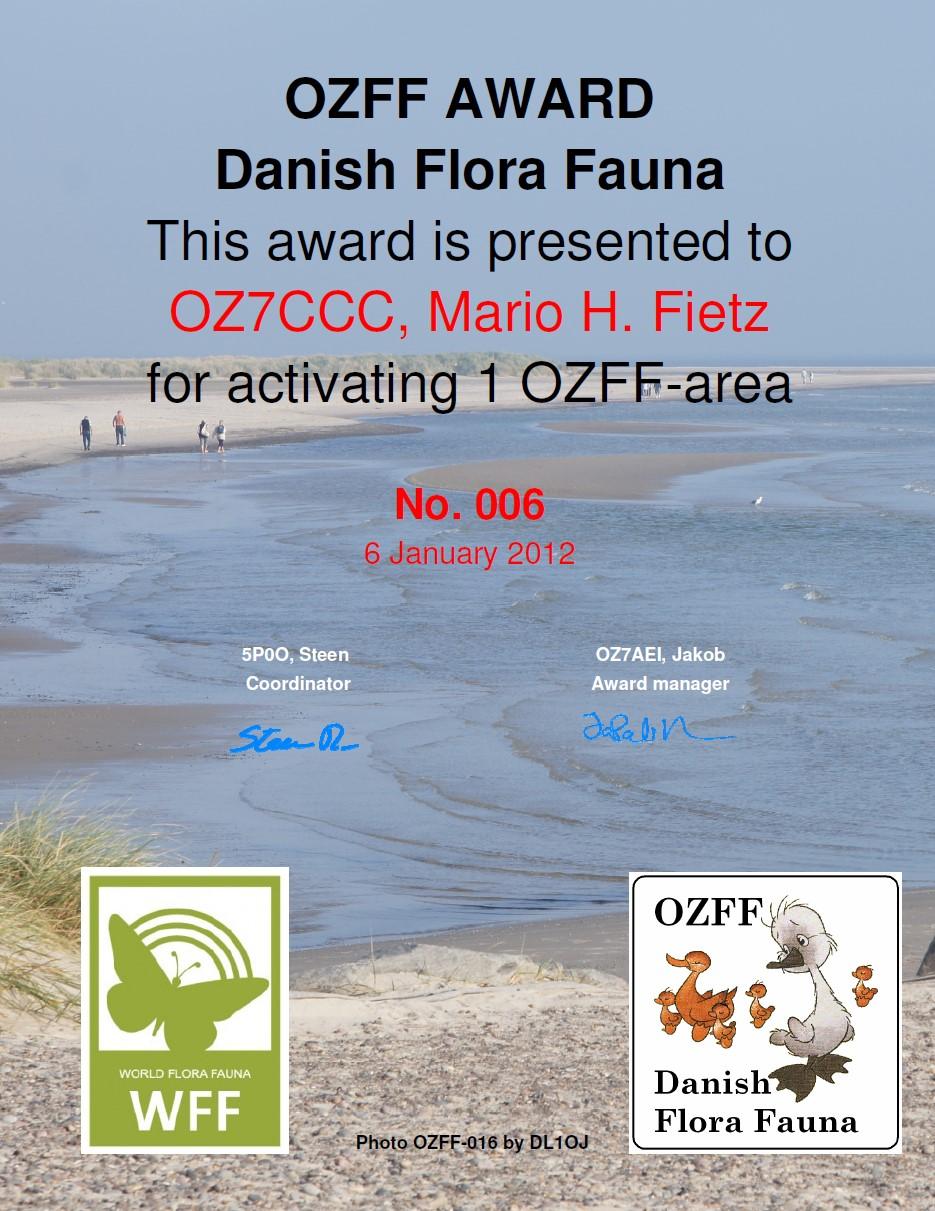 OZFF-Award