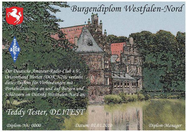 Burgendiplom Westfalen Nord