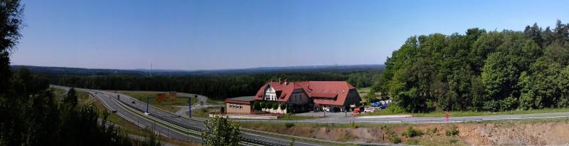 Blick vom Penter Knapp (Wiehengebirge) Richtung Süden