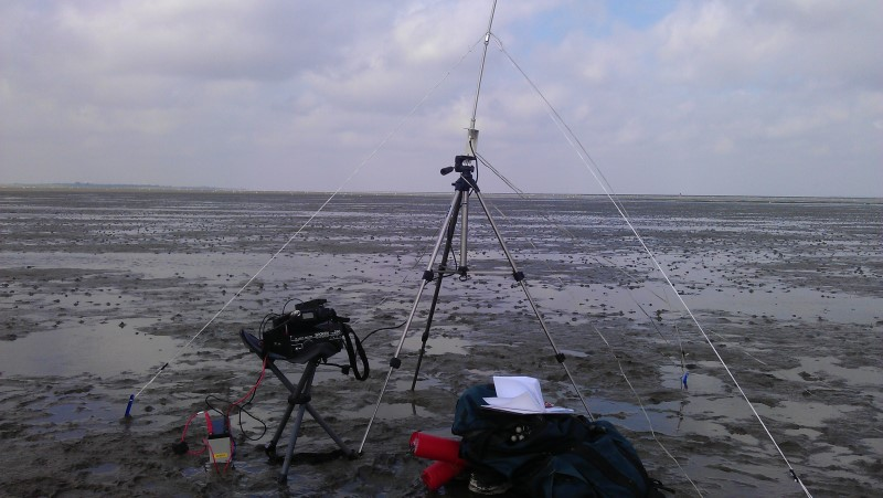 Setup in the Waddensea. In the Background you see the Island of Langeoog (EU-047)