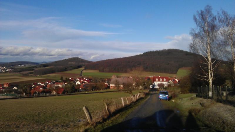 Auf dem Weg zurm Wisselsberg
