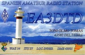 QSL-Karte von EA3DTD
