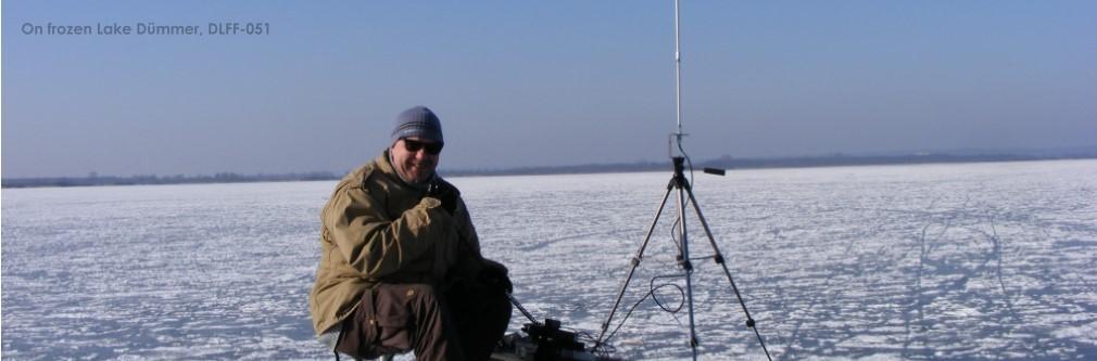 On frozen Lake Dümmer