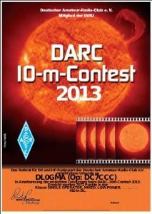 DARC 10m Contest  2013