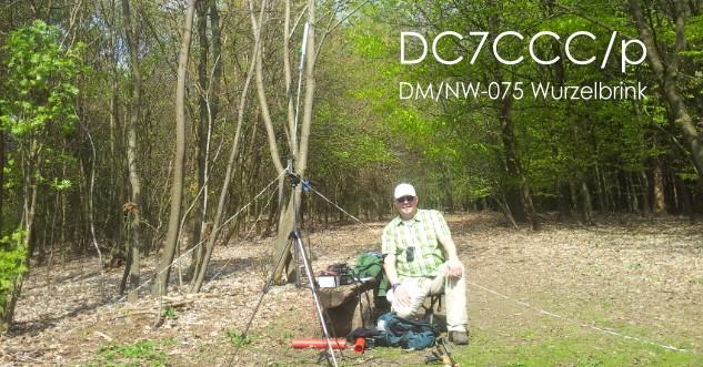 DC7CCC an der Kurzwellenstation