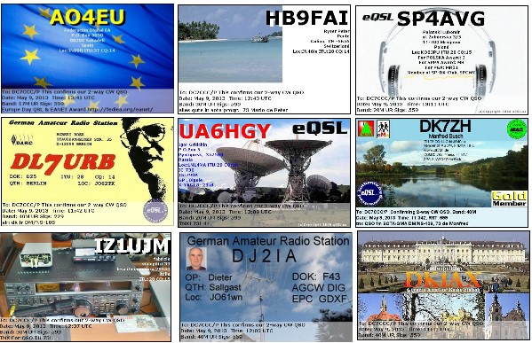 eQSLs für den 9. Mai 2013