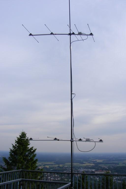 Antennenanlage auf der Aussichtsplattform