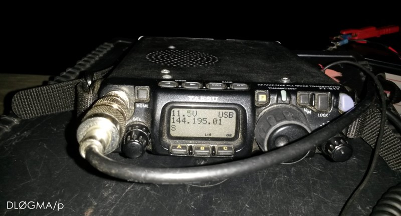 Yaesu FT-817 ND auf der Bergfunkfrequenz 144.195 MHz
