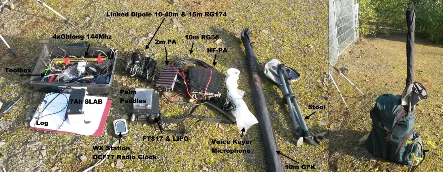 Das eingestetzte Equipment für UKW und Kurzwelle