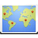 Landkarte mit allen Verbindungen