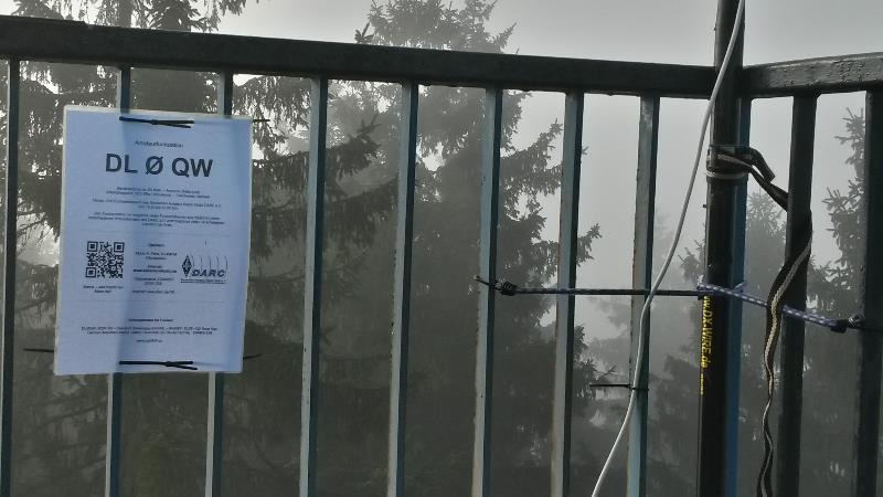 2014 Infoschild für Besucher auf der Aussichts-Plattform