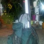 packed rucksack: 20 kilos