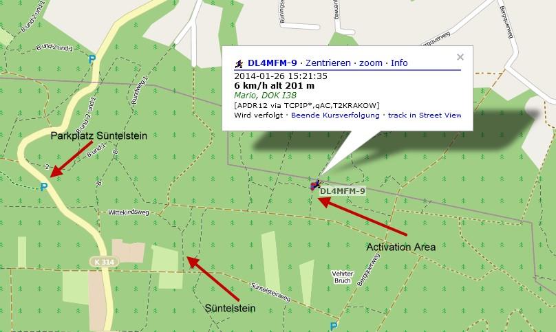 APRS Location (Open Street Map)