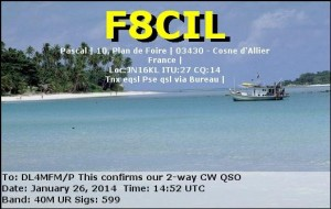 Contest QSO QSL to qualify the summit
