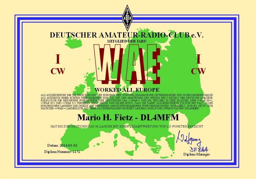 WAE I CW