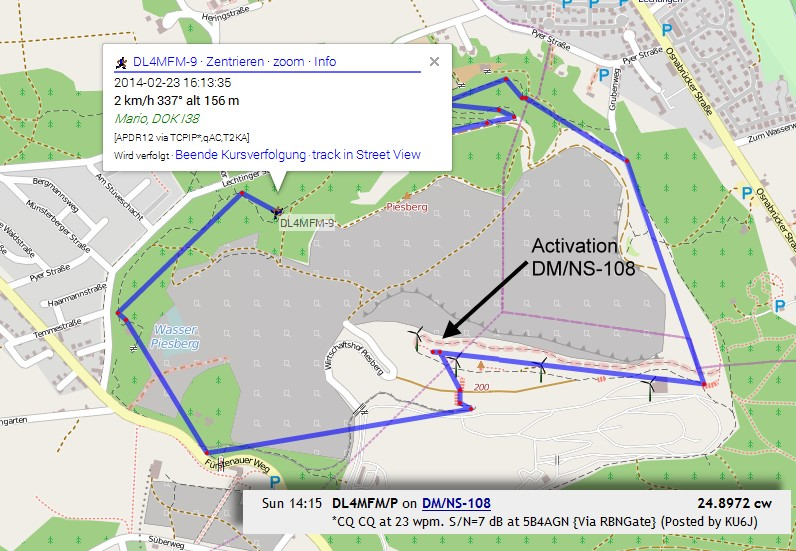 APRS Tracking on OpenStreetMap
