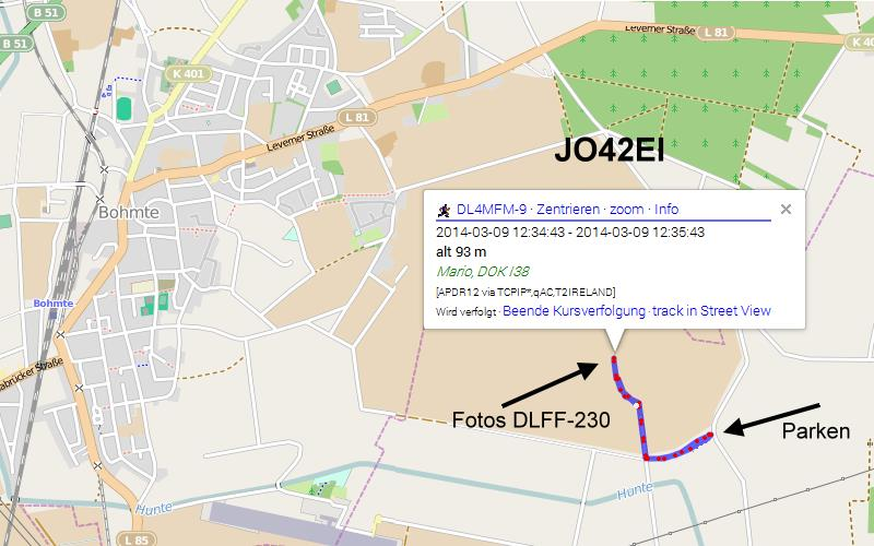 OpenStreetMap APRS Tracking