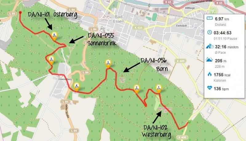 OpenStreetMap - Streckenverlauf