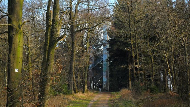 """Der Aussichtsturm """"Hermannsturm"""" - heute mal von der anderen Seite"""