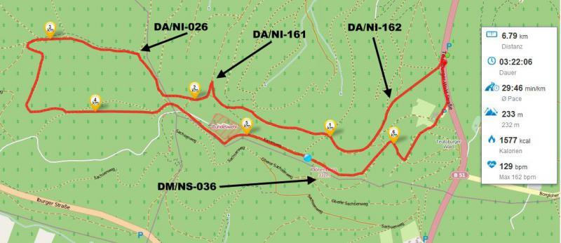 OpenStreetMap mit dem Streckenverlauf