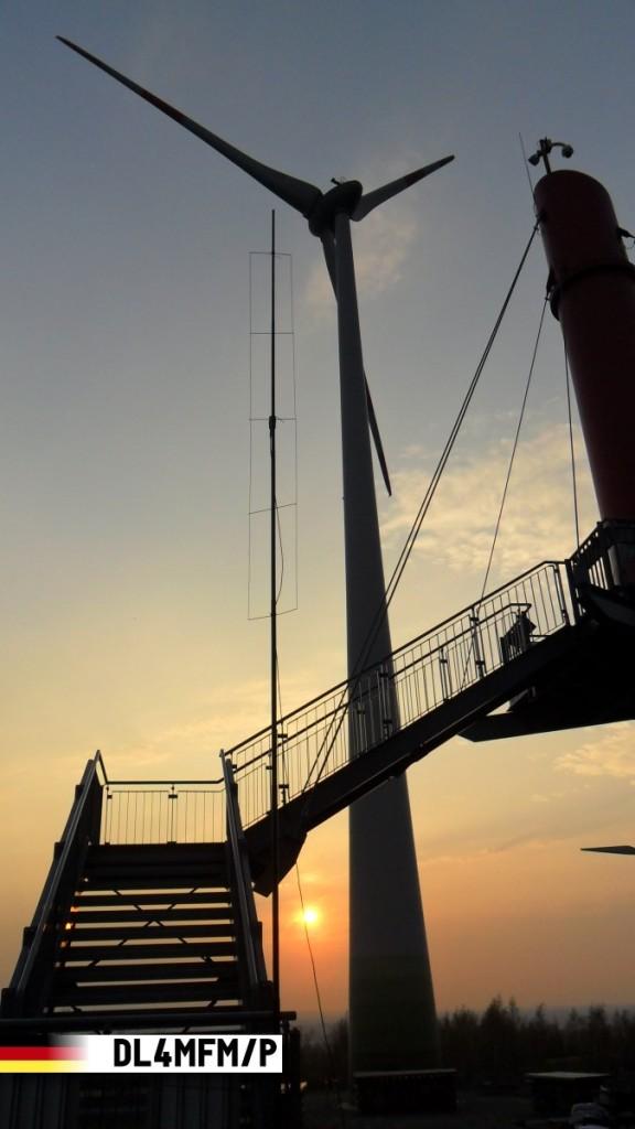 Die Antenne am Fuß des Aussichtsturms