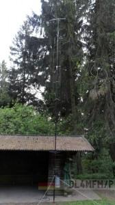 Antenne und Hütte
