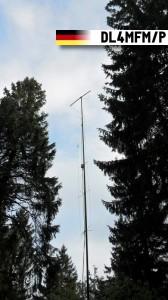 Antennenanlage: Delta-Loop on Top, darunter 4x Oblong