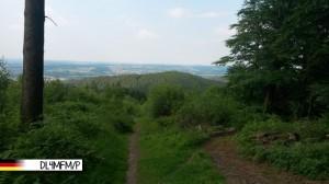 Beim Aufstieg zur Bergkuppe