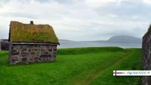 Skansin Fortress with the Island of Nólsoy