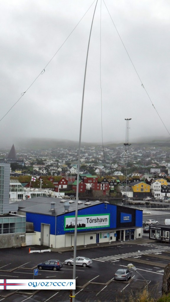 Linked Dipole over Tórshavn
