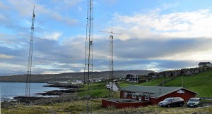 Antenna Field, in the Background Tórshavn