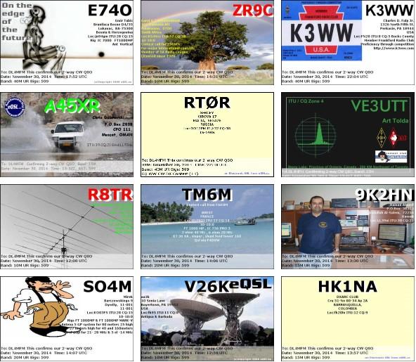 Hier ein paar eQSLs, die eingetroffen sind