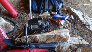 the transceiver in the cave