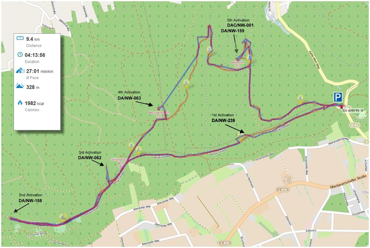 Die Route (OSM APRS / OSM Runtastic)