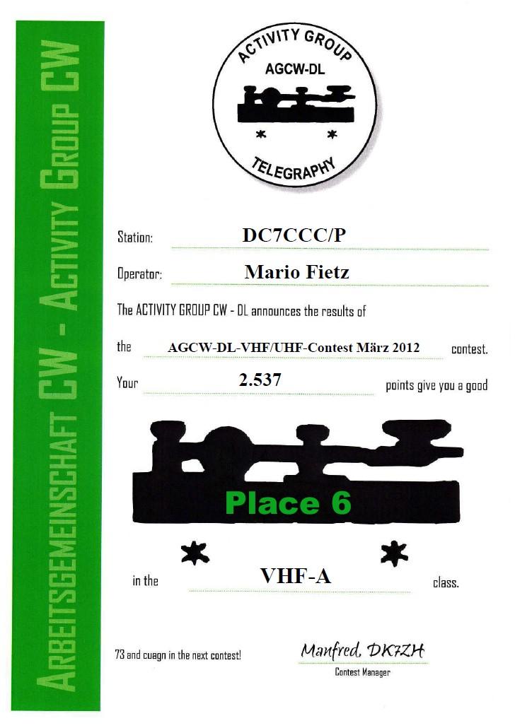 AGCW VHF 03/2012