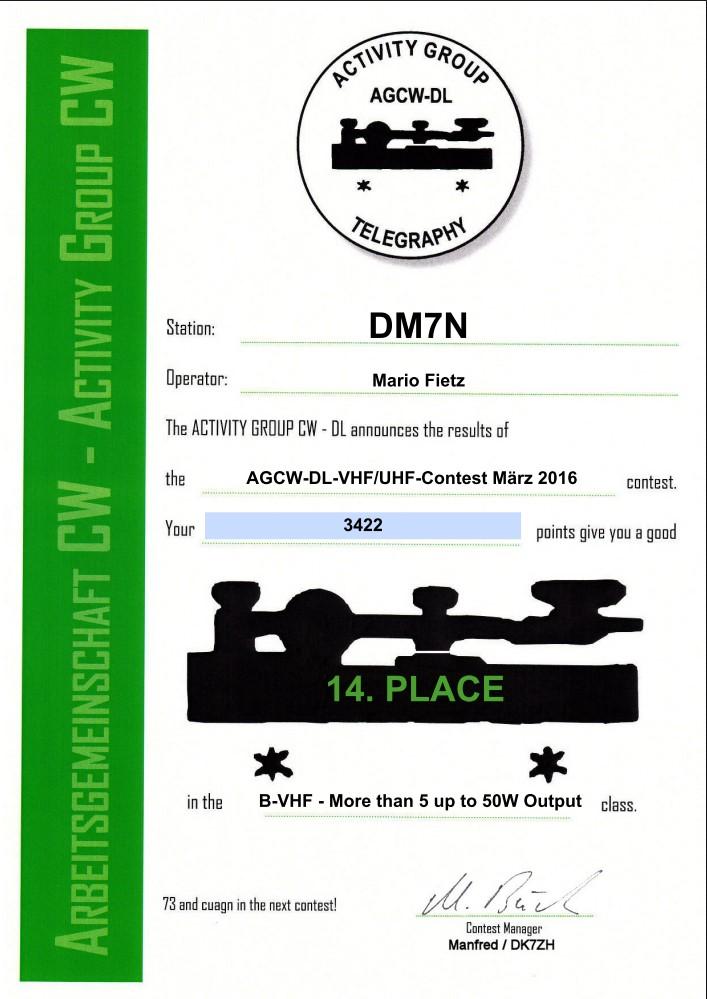 AGCW VHF 03/2016