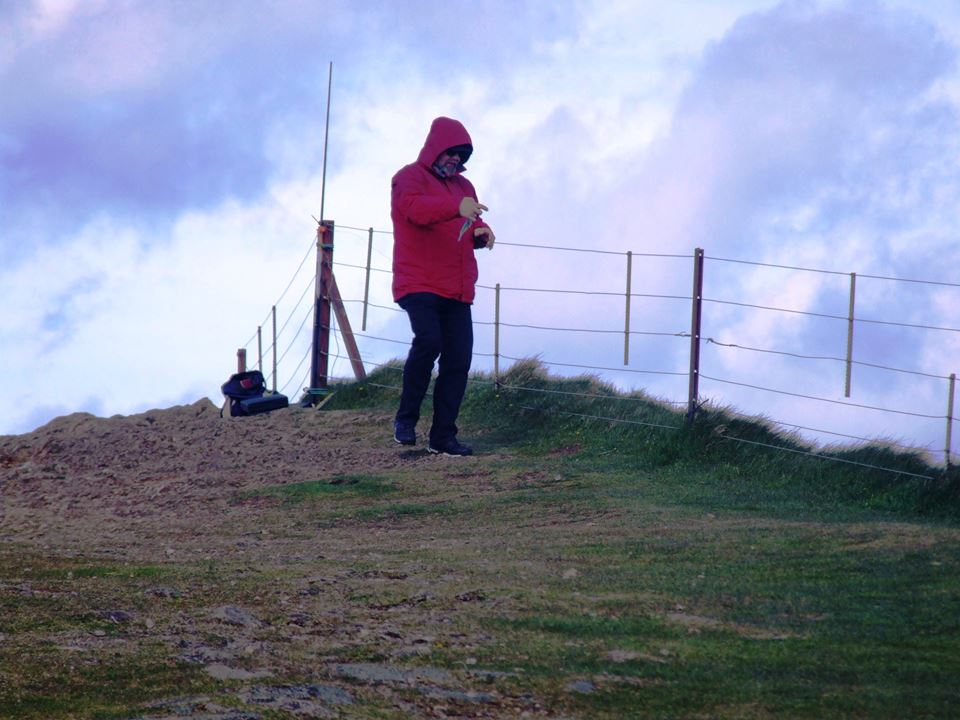 Setting up my station on Great Orme GW/NW-070