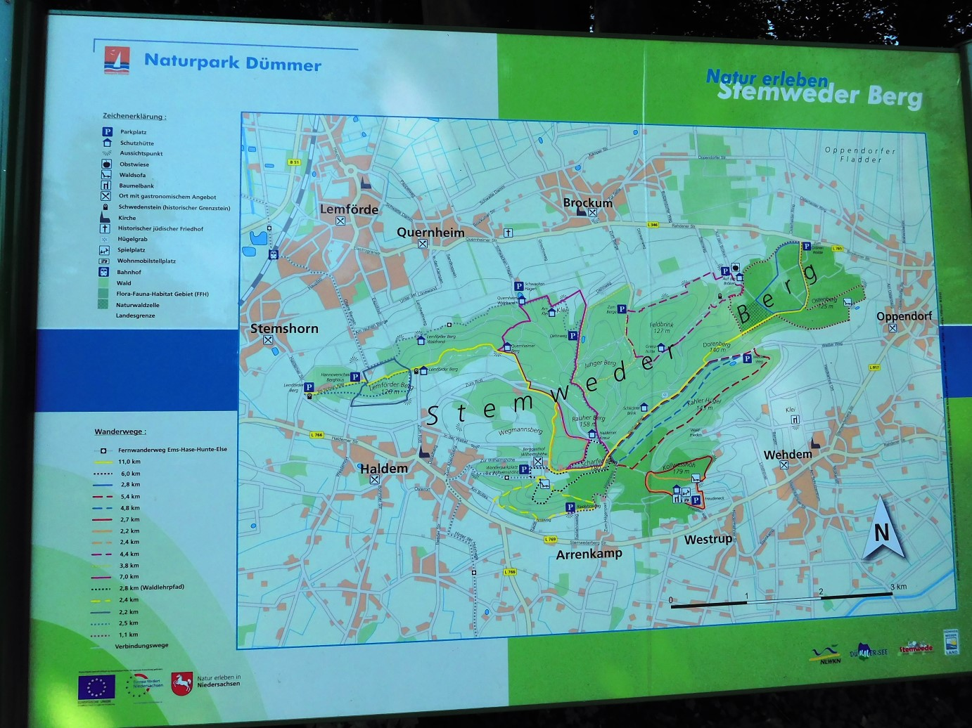 Map of Stemweder Berg in Nature Park Dümmer DLFF-0051