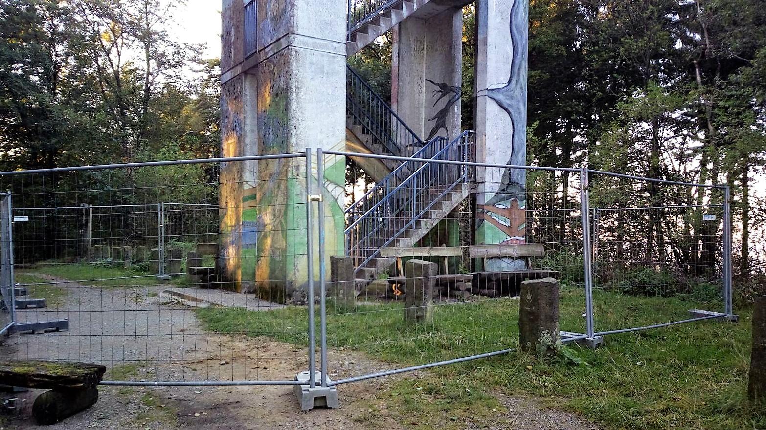 Hermannsturm gesperrt