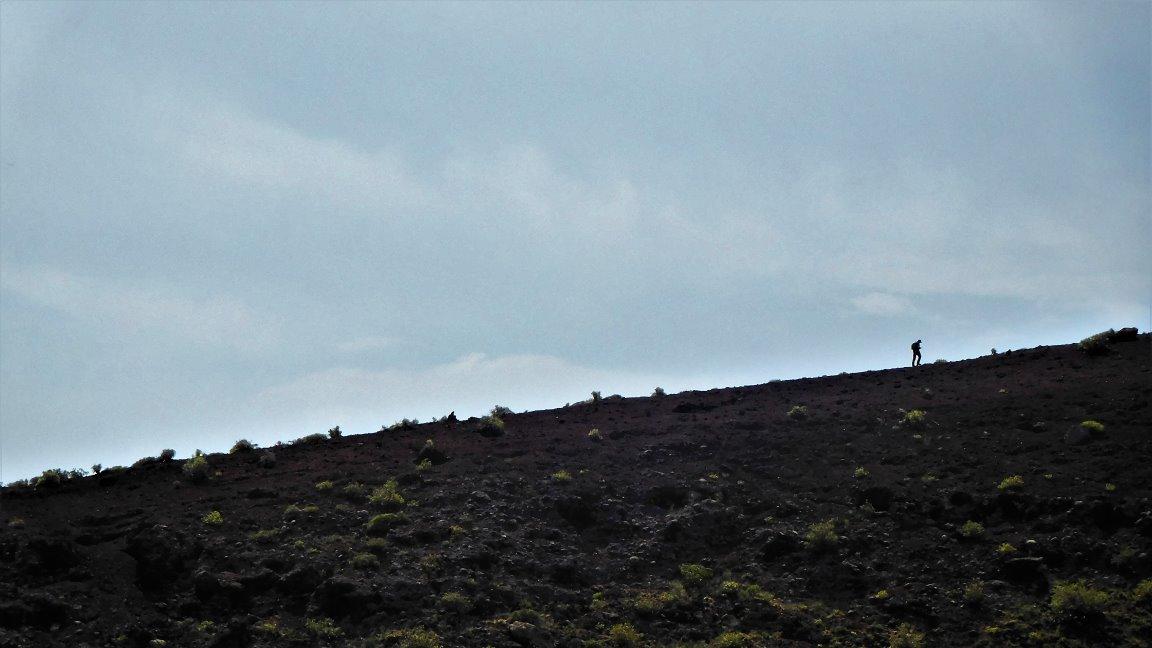 Über den Kraterrand ...