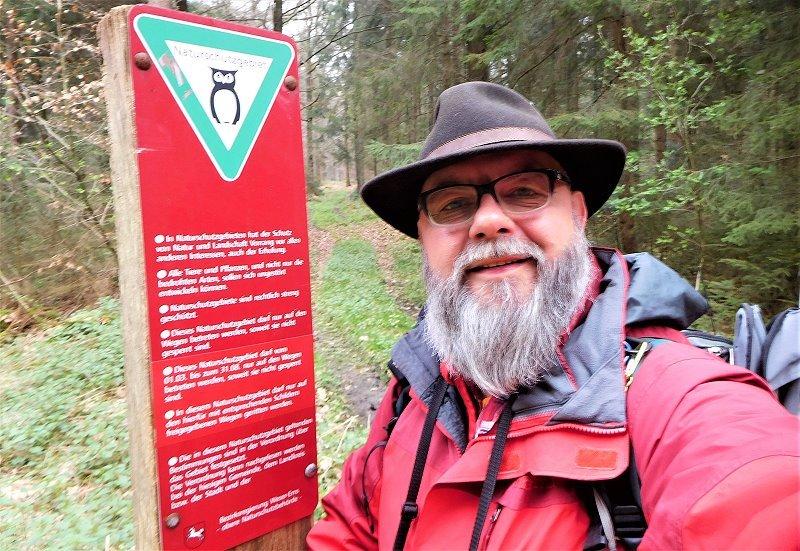 Beginn des Naturschutzgebiets