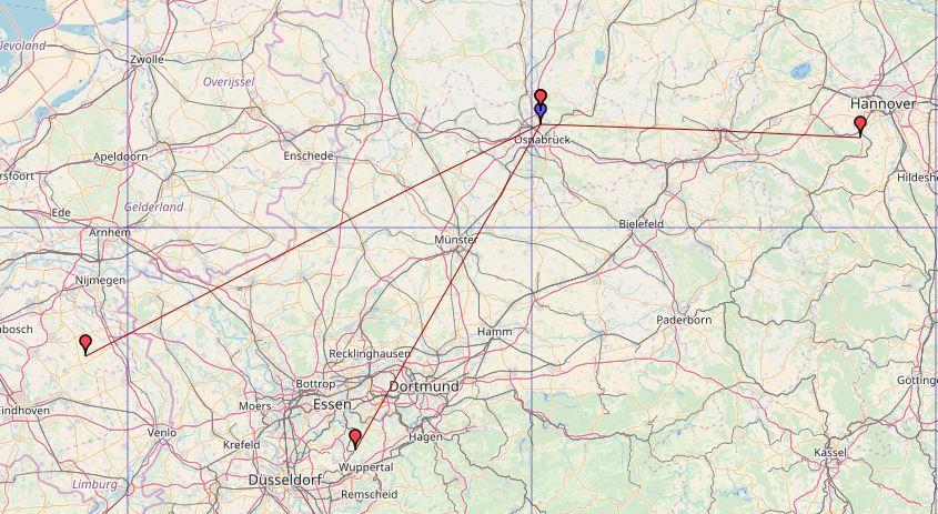Daten von OpenStreetMap - Veröffentlicht unter ODbL